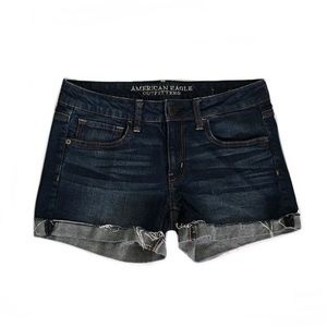American Eagle Cuffed Jean Shorts Size 6